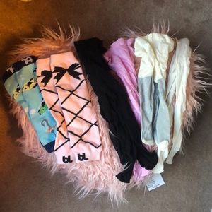 Toddler tight and knee sock bundle